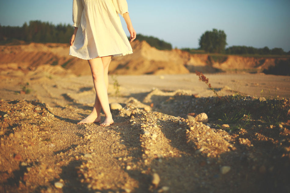 Beautiful stock photos of nature,  Barefoot,  Brown,  Clear Sky,  Dirt Road