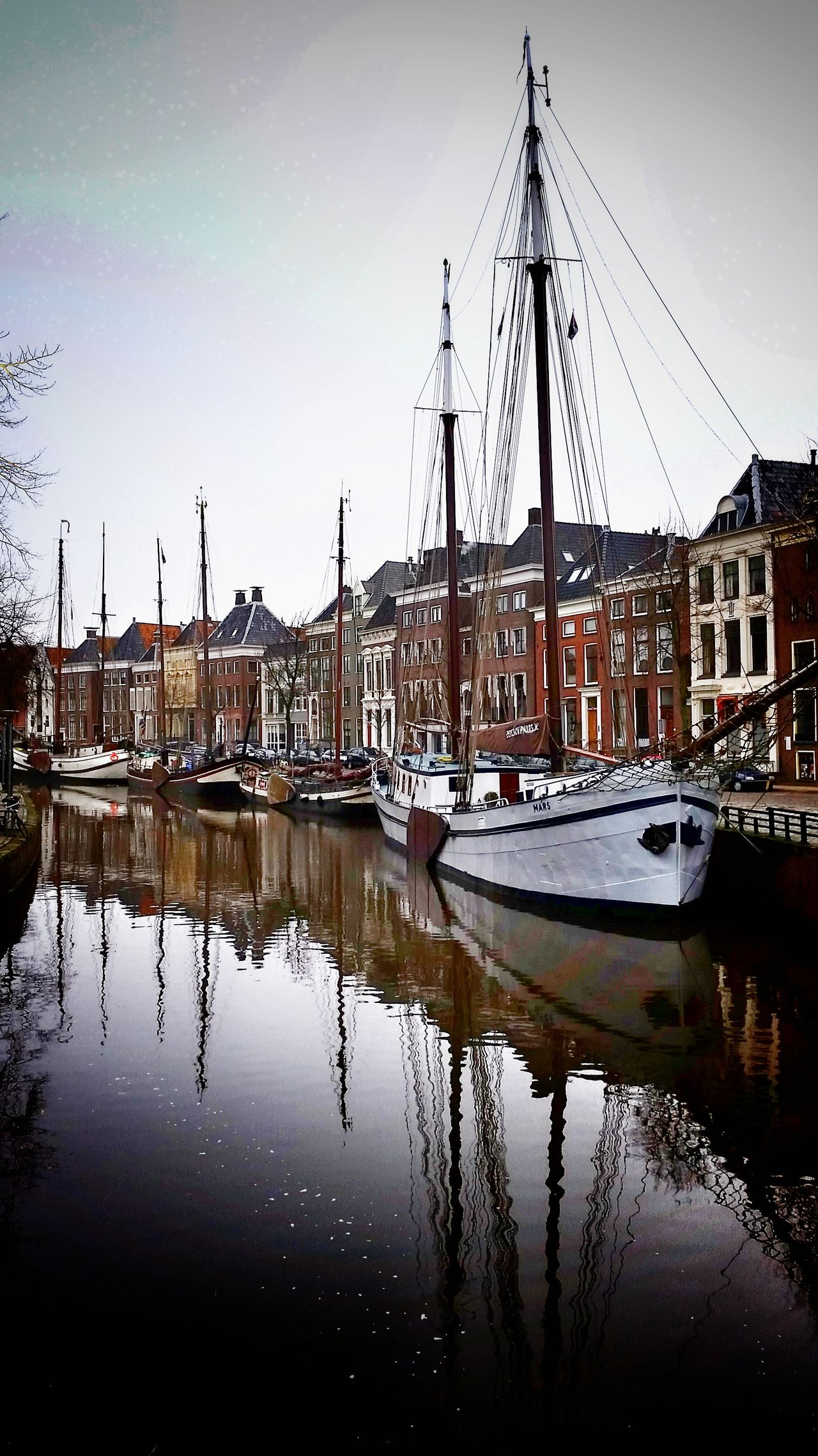 Groningen Holland Groningen Canal Boats Scenery Riverbank River Water Mast Sailboat Sailing Ship Yacht Tall Ship Holland Reflection Nautical Vessel Harbor Moored No People Sky Tree Outdoors Large Group Of Objects Day Nature