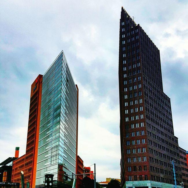 Berlin Potsdamerplatz Cityscape City Life Buildings Highinthesky Brightanddark