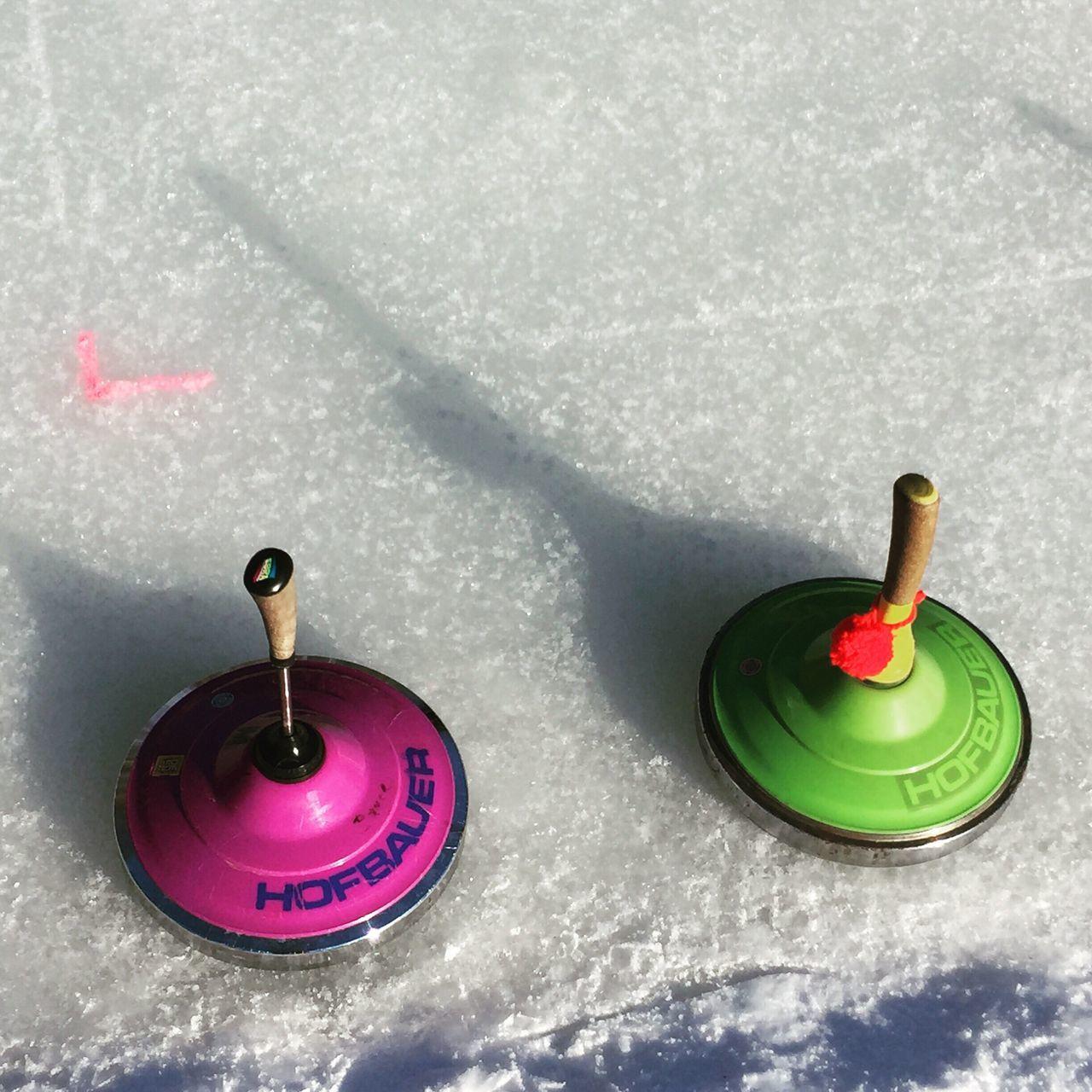 Bavarian Curling Curling Eisstock Winter Sport Allgäuer Alpen Allgäu Frozen Lake Winter Snow Ice