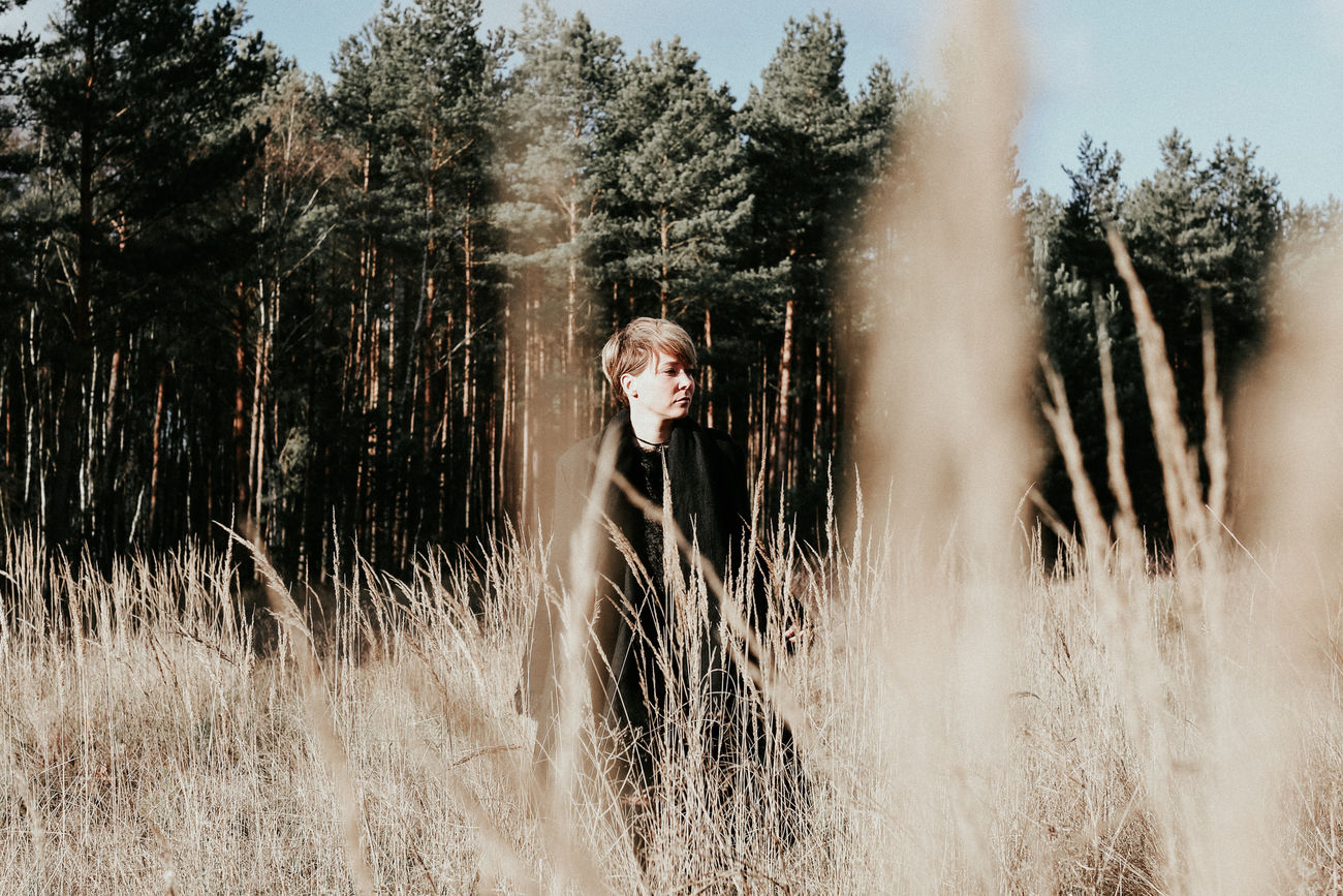 Beautiful Woman Beauty In Nature Day Forest Grass Growth Landscape Landscape_photography Nature One Person One Woman Only Outdoors People Real People Sky Standing Tree Water Young Adult Young Women