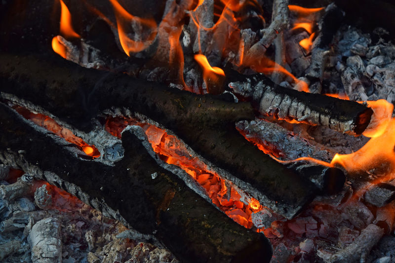 Bonfire wood fire flame for barbecue grill for cooking Ashes Barbecue BBQ Blaze Bonfire Burn Burning Campfire Close-up Coal Cooking Danger Fire Fire - Natural Phenomenon Fireplace Firewood Flame Full Frame Glowing Grill Heat - Temperature Hot Stake Warm Wood
