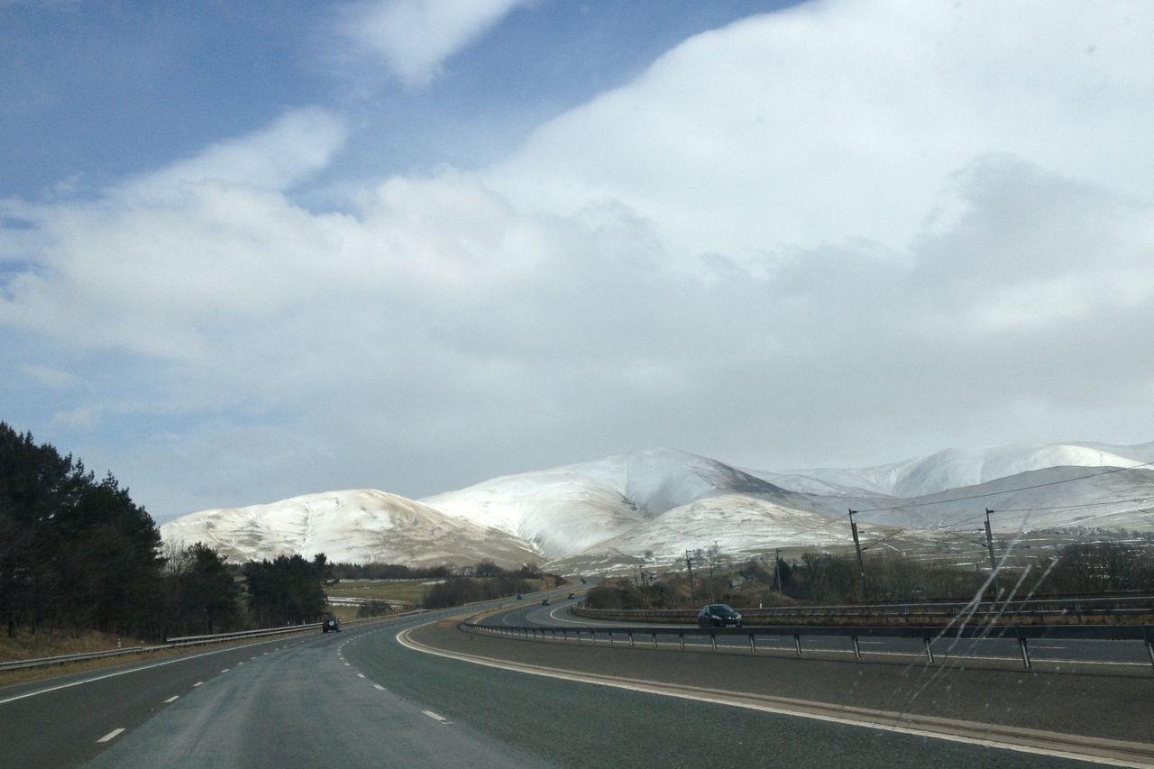 Drive To Scotland Scotland Hills Snow Scotland Snow Motorway