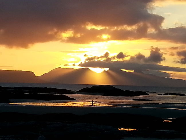 Sunset at Invercaimbe Island Isle Of Rhum Sunset Seascape Sea Isle Of Rum West Coast Scotland Dramatic Sky Invercaimbe