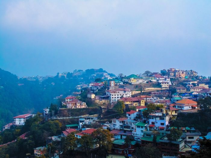 The beautiful town of mussoorie 😍 Town TOWNSCAPE Mountains Building Residential District Human Settlement Colorful Nature_collection Travelling North India Exploring Tourist Attraction  Beauty In Nature Travel Photography Landscape Wide Angle Tadaa Community Mussoorie Uttarakhand Perspective Tourism Adventure Nature Hilltop Gun Hill