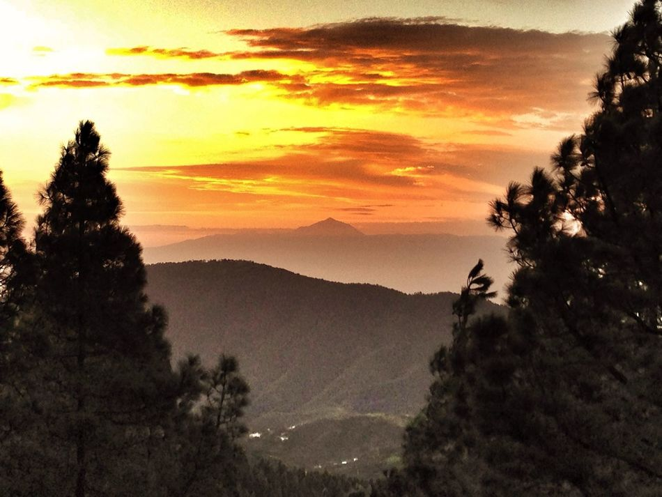 Gran Canaria Canary Islands Sunset El Teide