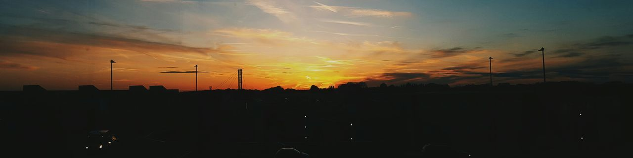 Lincolnshire Sunset. Sunset Silhouette No People Cloud - Sky Industry Nature Technology Outdoors Beauty In Nature Lincolnshire Lincoln University Student Accommodation Evening Sky Samsung Galaxy S6 VSCO City Travel Destinations Landscape Sunbeams Cropped Vibrant Color Student