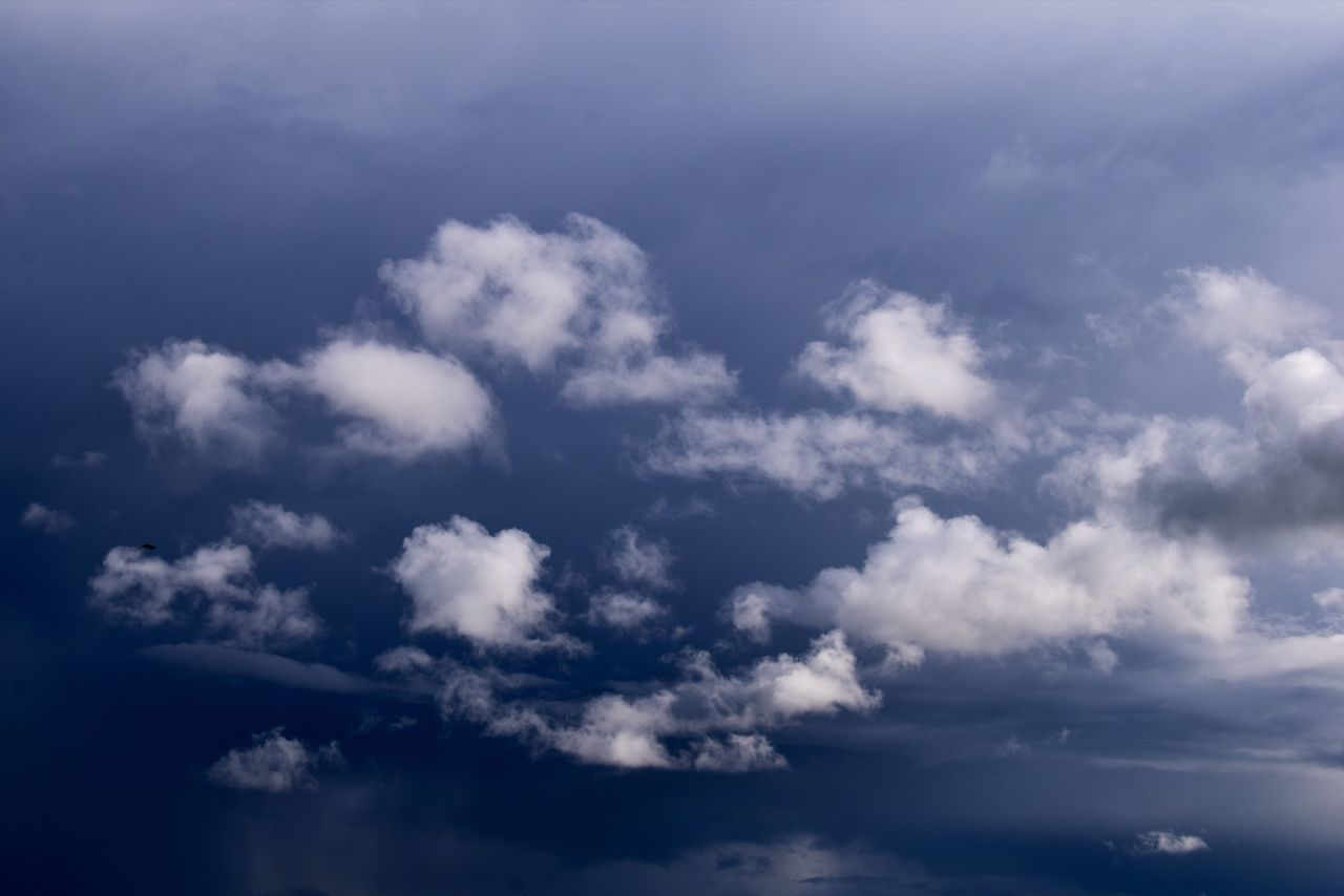 Cumulus Cloud Cloud - Sky Tranquility Beauty In Nature Sky Blue Sky Only