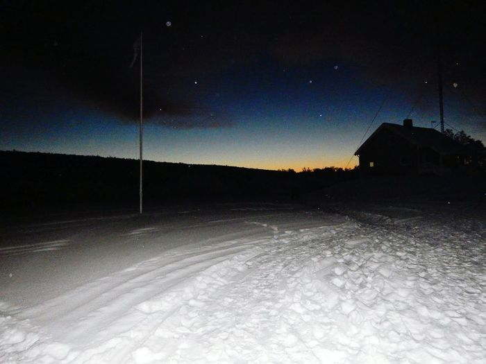 Sunrise Over Snow Norway Arctic Circle Stars Over Snow Night Lights Light And Shadow Stars