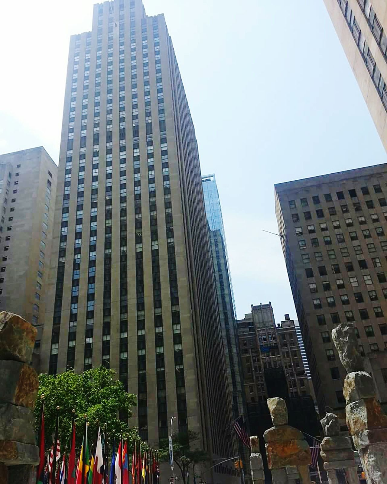 City Skyscraper Architecture Modern Business Finance And Industry Urban Skyline Travel Destinations Building Exterior Outdoors Cityscape Downtown District No People Day Rockefeller Center With Internationl Flags, New York, US Rockefeller Livetotravel Rockefellercentre NYC Street Photography Rockefeller Center, New York Live, Love, Laugh Love Life Livethemoment NYC LIFE ♥ Living Life To The Fullest❤ Love❤