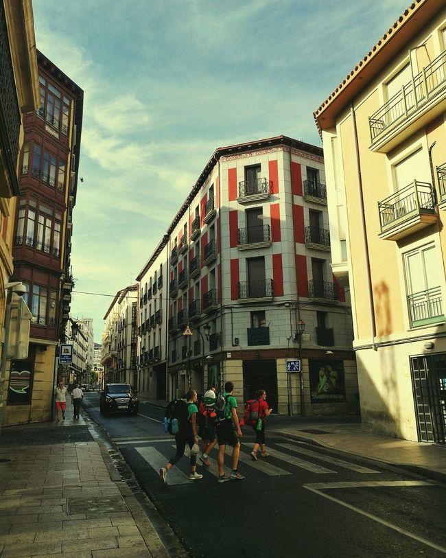 CaminodeSantiago Street Walking Friends Larioja Logroño Hello World