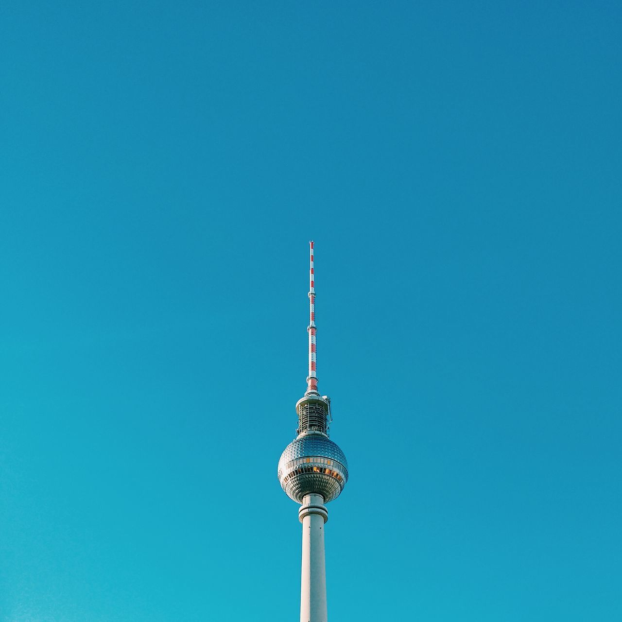 Beautiful stock photos of architecture, blue, communication, tower, low angle view