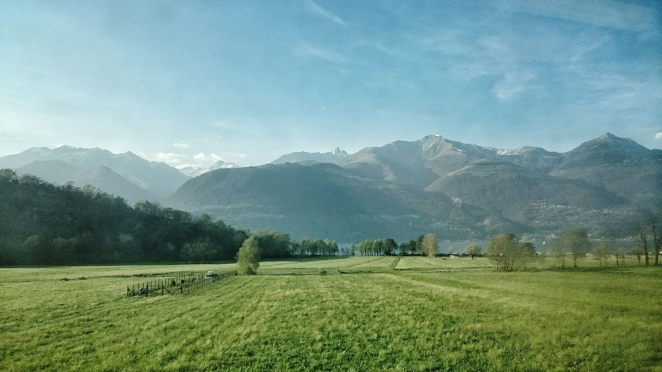 Lago Di Como Mountains On The Train Afternoon Sunny☀