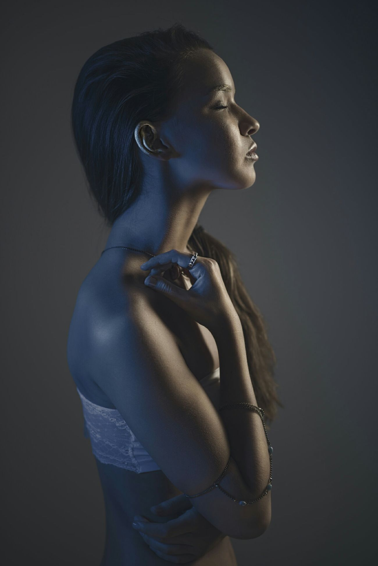 Trina in the studio. Created using both constant and strobe lights. Check This Out Strobes Model