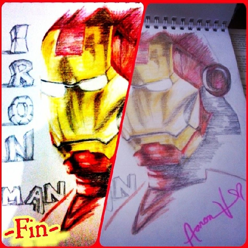 ... Its Iron Man on my sketch pad!!! Follow me--->>> essa_aaron23 RobertDowney Ironman Avengers Lotsoflove Amazing HappyDay