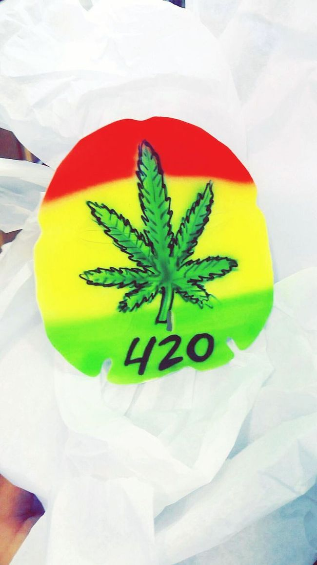 Had to bring a little something back from flordia 😏💖💛💚❤ 420life 420 Smoker Pothead Beautiful Beauty Sanddollar Airbrushed Florida Marijuana