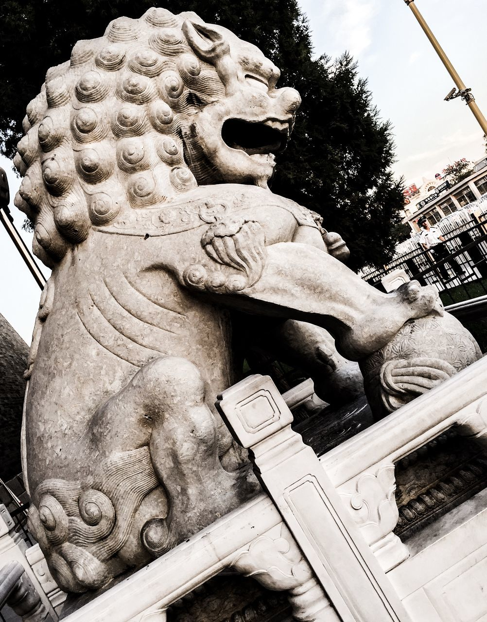 Low Angle View Of Lion Statue