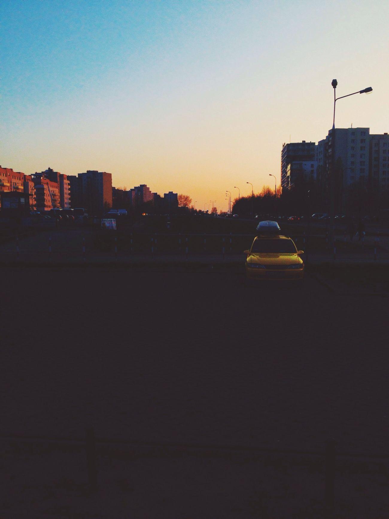 Sunset Walking Car Hanging Out
