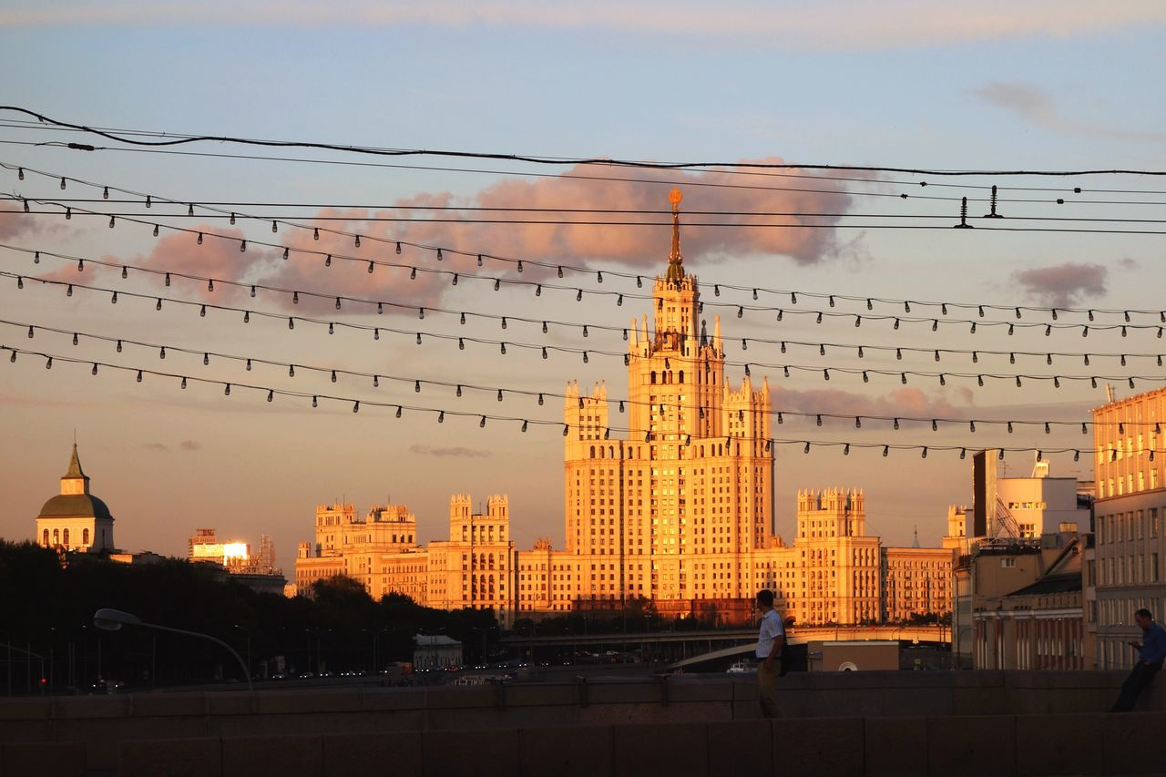 Light over Kotelnicheskaya Sky Scraper in Moscow City Moscow, Москва Soviet Architecture Illuminated Illumination Architecture Architecture_collection Sunshine Light And Shadow Light Up Your Life Skyline