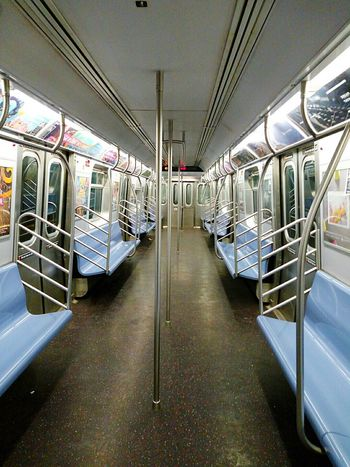 Empty Train No One Is Here Inside Train Train Car New York City Subway Pastel Power