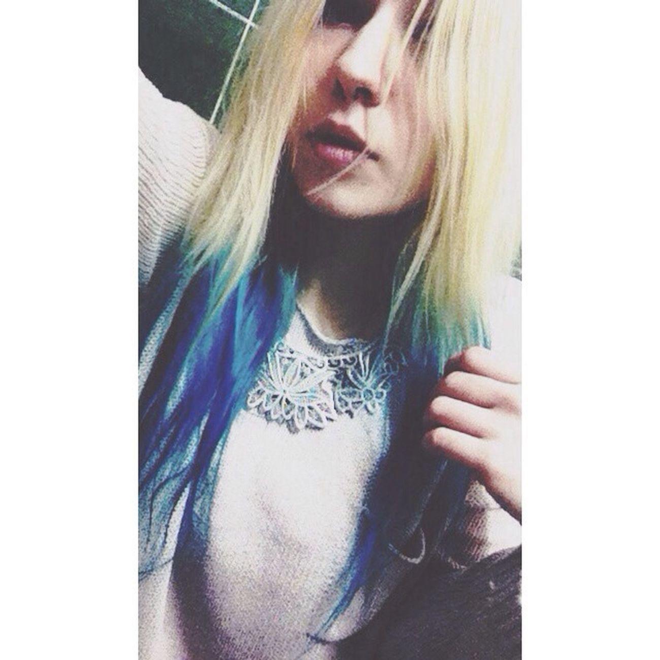 Dip Dye Hair Hairstyle Blue Hair Selfportrait
