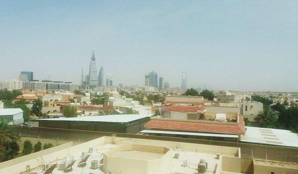 My everyday morning view.. Taking Photos Check This Out Hello World Wheninriyadh Apartofriyadh Olayatower