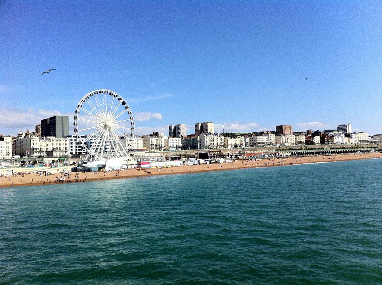 Brighton vom Pier aus.