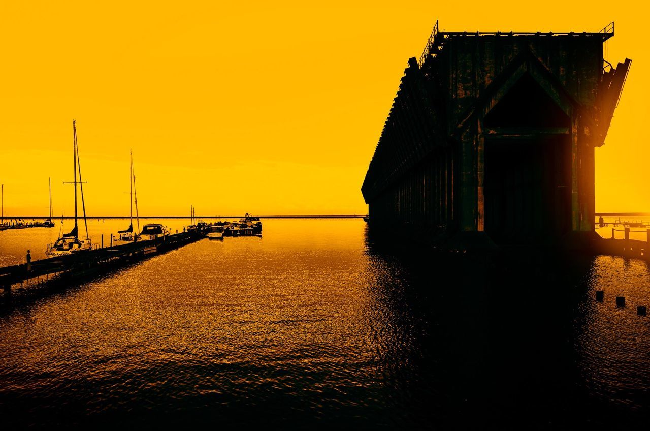 Marquette, Michigan Sunset Built Structure Water Sky Architecture Silhouette No People Building Exterior Sea Outdoors Bridge - Man Made Structure Scenics Nature Beauty In Nature