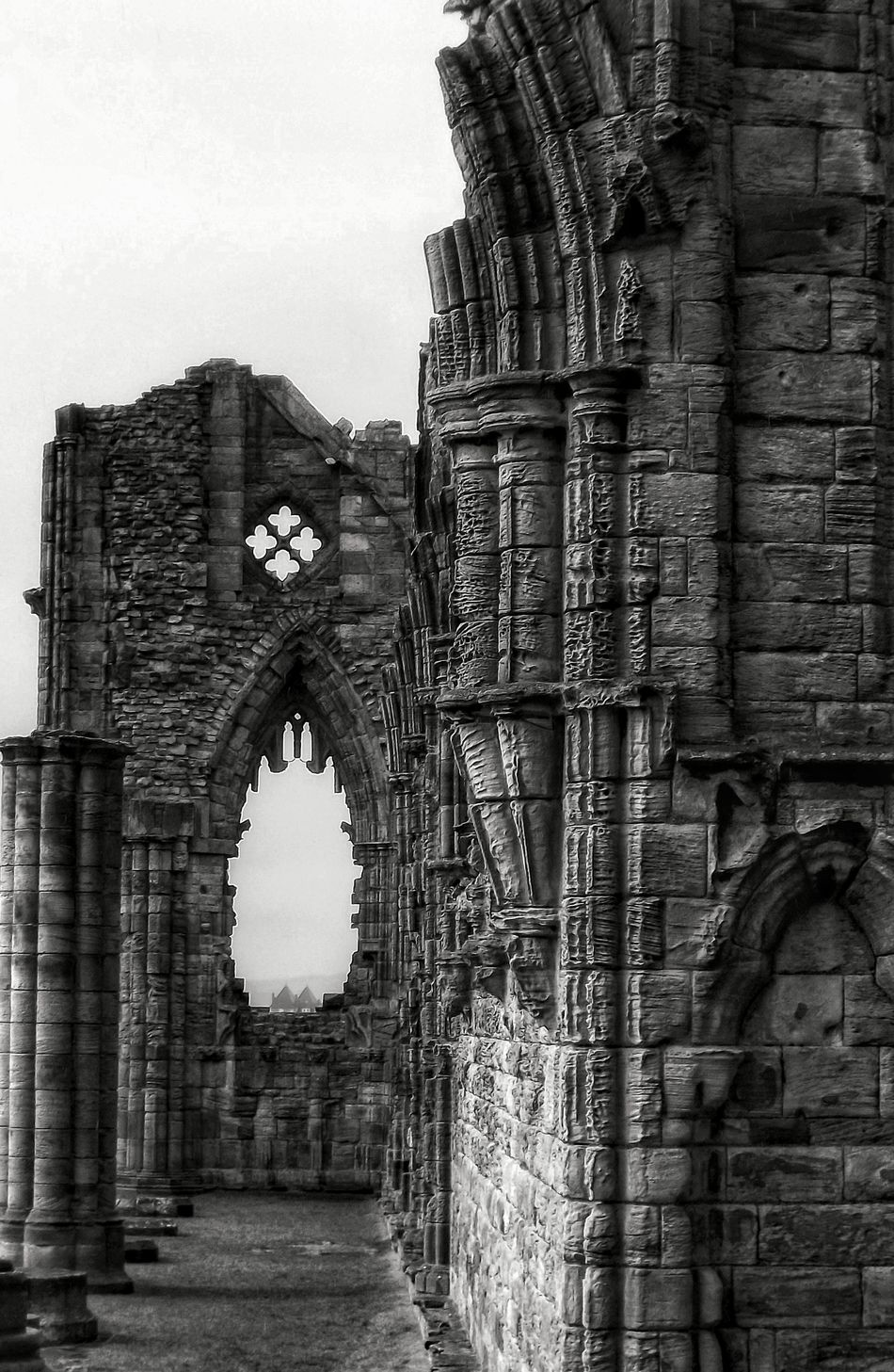 Took this on a very cold and rainy day at Whitby Abbey a lovely place to visit when it's sunny Historic Black And White Portrait Monochrome Black And White Collection  Eyeem Black And White Photography Black And White Scenery Bnw_collection Creative Light And Shadow Gray Day Black & White Monochrome Black & White Photography Whitby HDR See The World Through My Eyes Eye For Photography Hdr_Collection Fujifilm Showcase April EyeEm Hdr-Collection EyeEm Masterclass Scenery Shot Whitby Abbey Whitby Abby Whitby View Architecture_collection