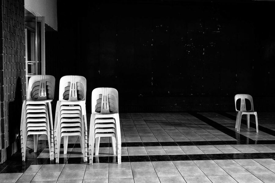 Blackandwhite Photography Blackandwhite Chair Absence Empty No People Outcast