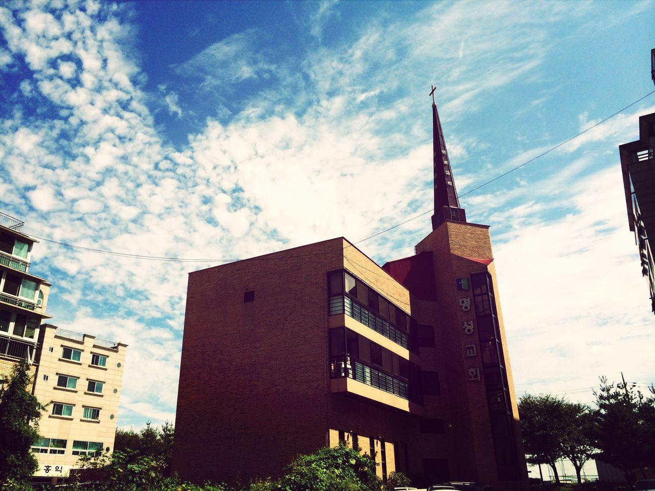 안중명성교회 Church Clouds And Sky 우리 교회 멋지다!^^*
