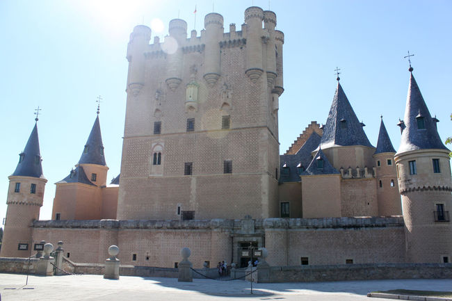 old holidays Alcazar Alcázar Segovia Architecture Bell Tower Building Exterior Built Structure Castle Church Citadel Cold Temperature Day Façade History Local Landmark Old Town Place Of Worship Religion Royal Palace Sky Snow Spirituality Steeple Tower Town Square Winter