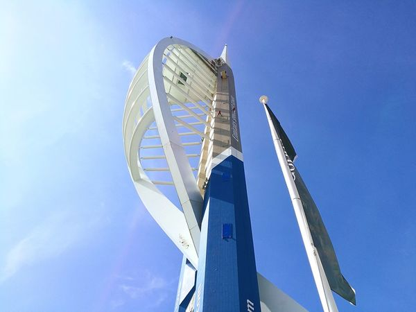EyeEm Selects Spinnaker Tower!!! Low Angle View Outdoors No People Sky Day Architecture Travel Destinations Beach Scenics England Portsmouth Historic Dockyard Portsmouth UK Uk Southsea UK Portsmouthphotographer Summer Blue Golf Club