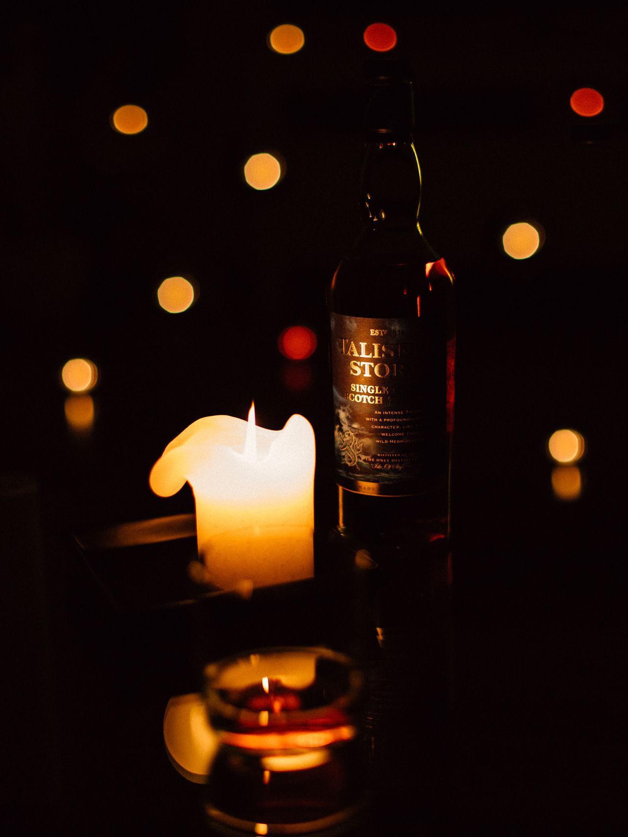Burning Candle Celebration Close-up Evening Flame Glowing Illuminated Indoors  Mood Night No People Product Photography Productphotography Talisker Talisker Distillery Talisker Storm Talisker Whisk Talisker Whiskey Taliskerstorm Taliskerwhiskey Tea Light Whiskey Whisky