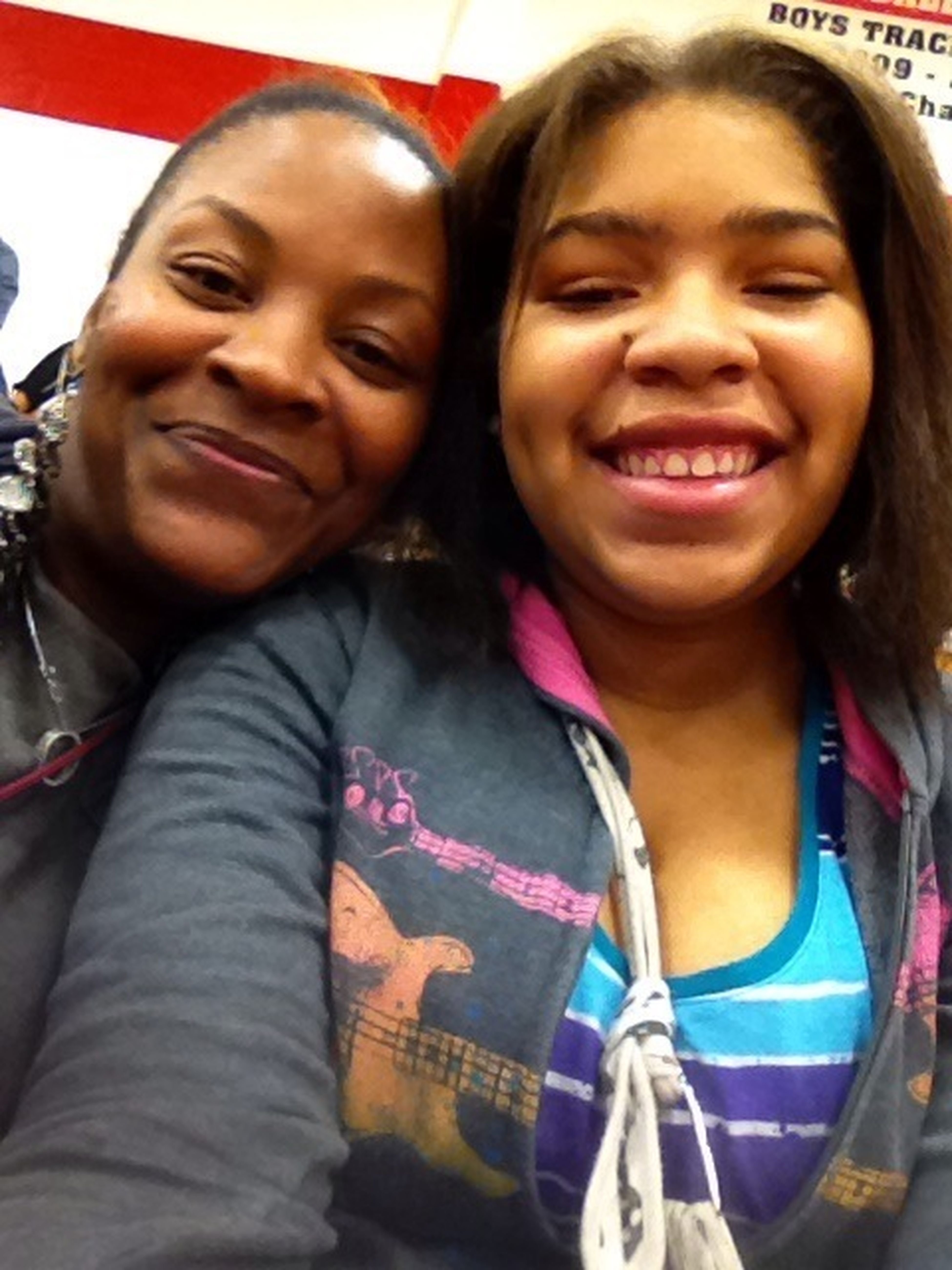 Me And My Momma Chilling At The Game !