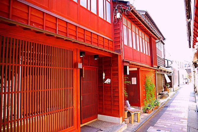 東茶屋街 Red Japanese Architecture Wabi-sabi Street PENTAX K-70