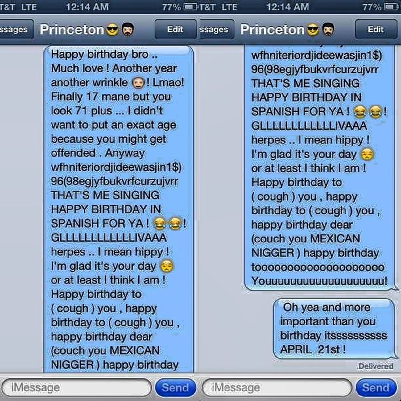 My birthday message to @princemisfit94 Mindless MINDLESS BEHAVIOR Team Mindless Princeton Birthday