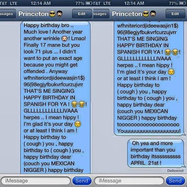 My birthday message to @princemisfit94 Mindless MINDLESS BEHAVIOR Team Mindless Princeton Birthday