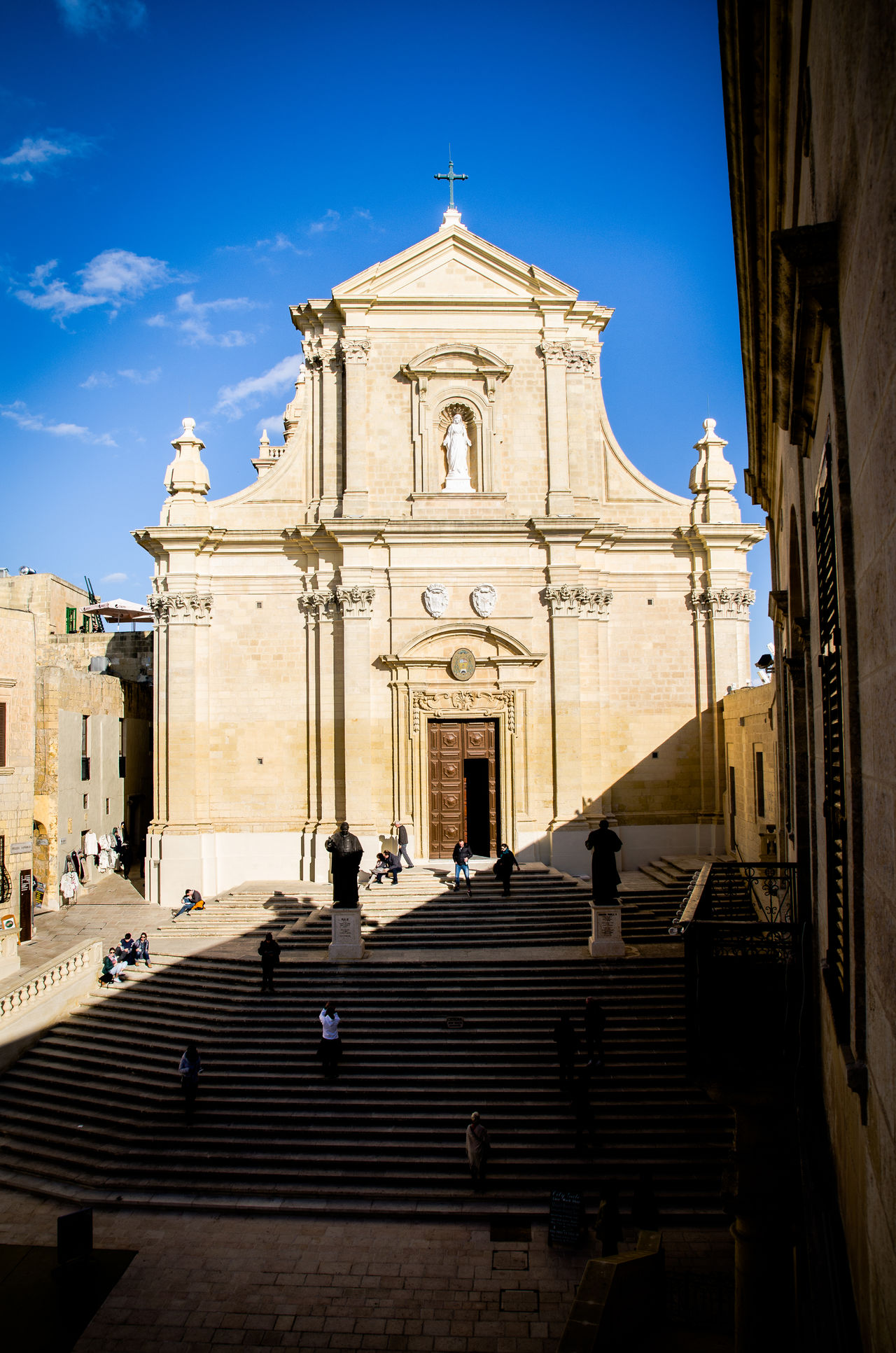 Architecture Baroque Style Building Exterior Built Structure City Cross Day Dome No People Outdoors Place Of Worship Pleading Politics And Government Religion Sculpture Sky Spirituality Statue Travel Destinations