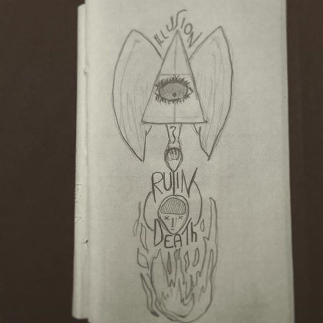 Old drawings Illusion Ruin Death Flames Drawinginthenight Thinkpositive Secretmeaning