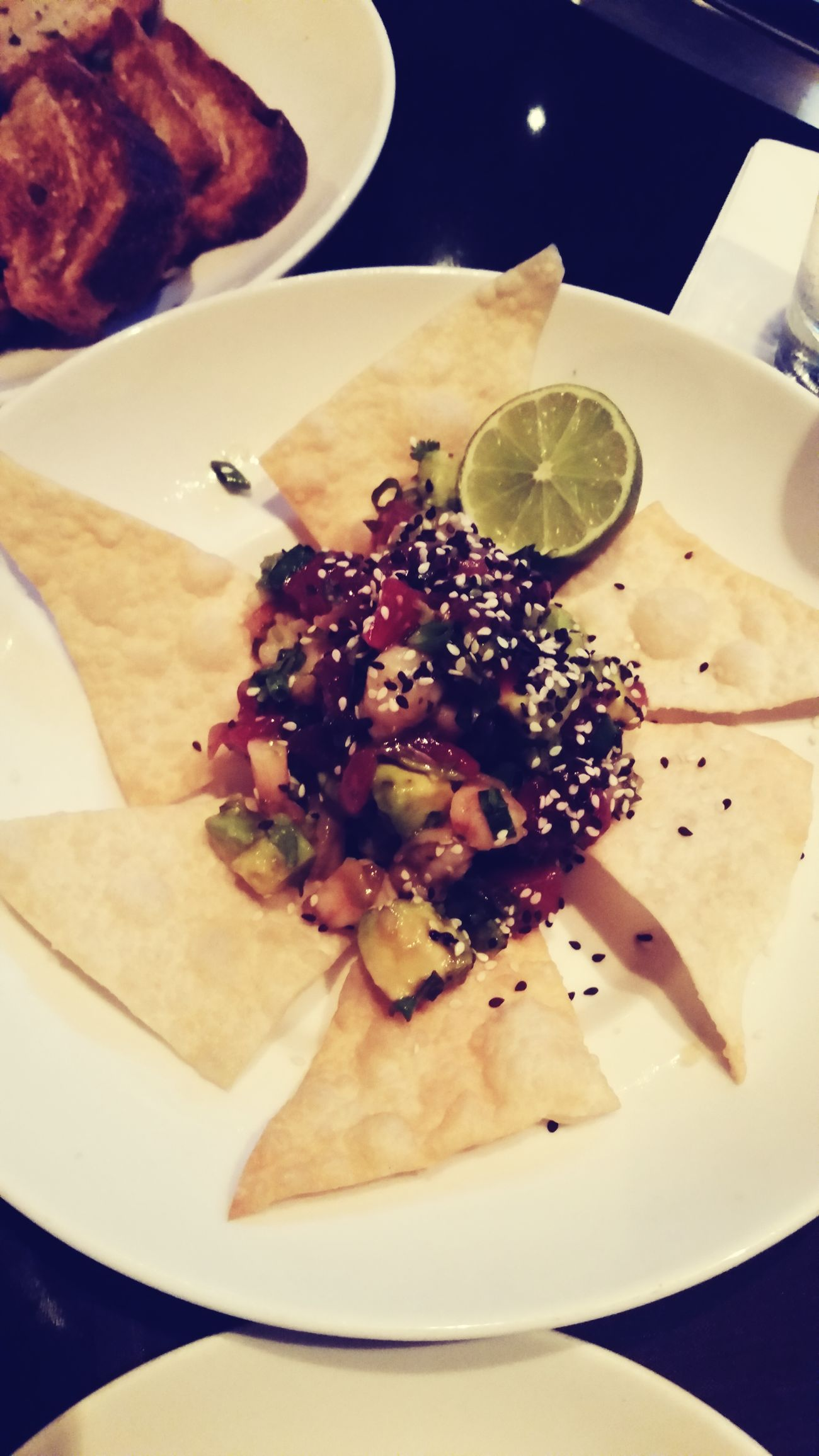 Ahi poke with shrimp, avocado and agave ponzu. So far two for two Phoenix Dinner