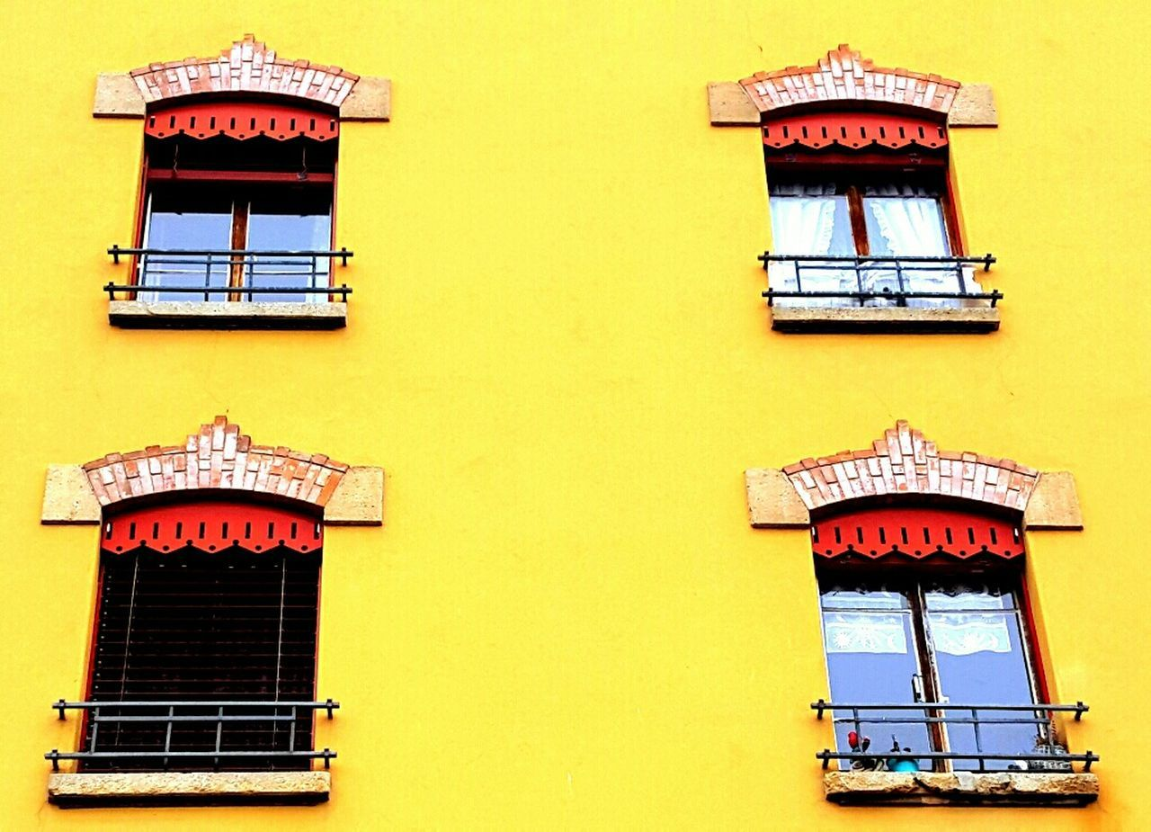 Windows Building Exterior Architecture Yellow City Outdoors Geneve, Switzerland Grottes