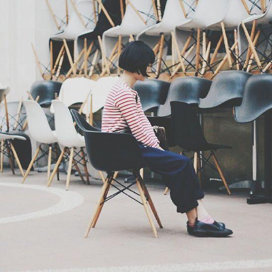 My human diary 3.0 WDYWT Shellchair Stripes Ootdindo vscocam