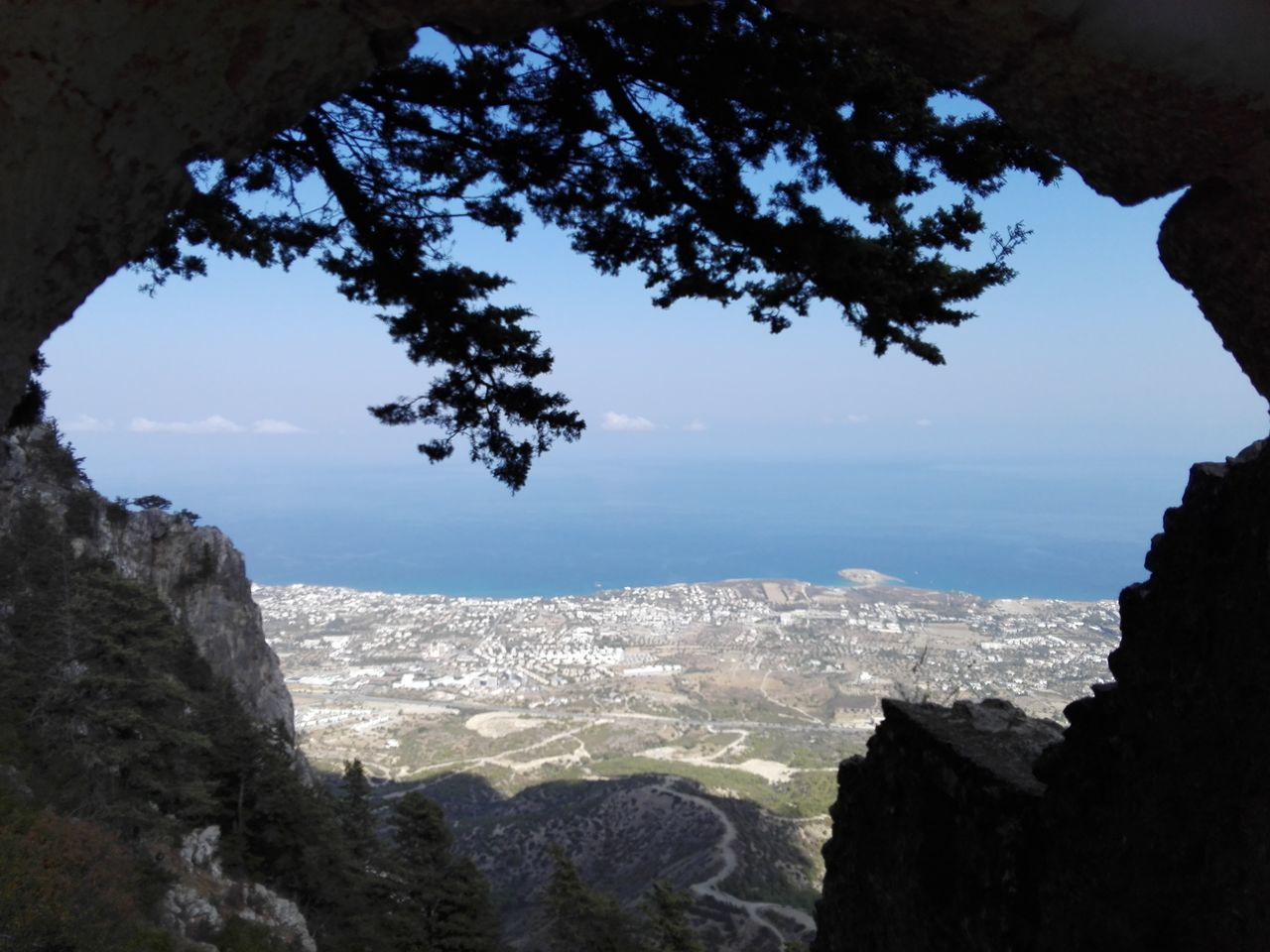 Beauty In Nature Kyrenia Landscape Mountain Mountain Range Nature Night No People Outdoors Scenics Sky St. Hillarion Castle Travel Destinations Tree