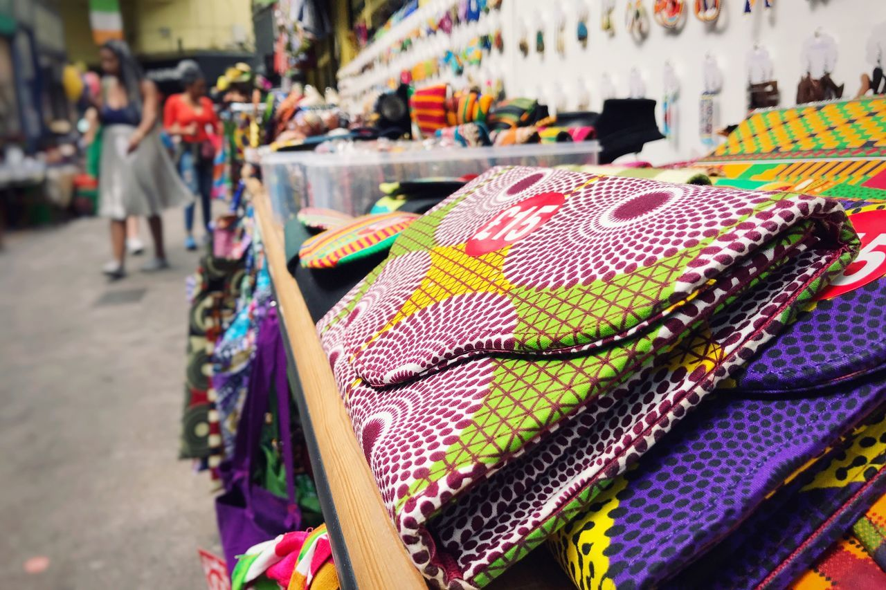 Market For Sale Multi Colored Market Stall Small Business Focus On Foreground Textile EyeEm LOST IN London From My Point Of View EyeEm Best Shots EyeEmBestPics LONDON❤ London Lifestyle Urban Lifestyle Brixton Brixton Village Brixton Market  Colours Colourful African Pattern Diversity African