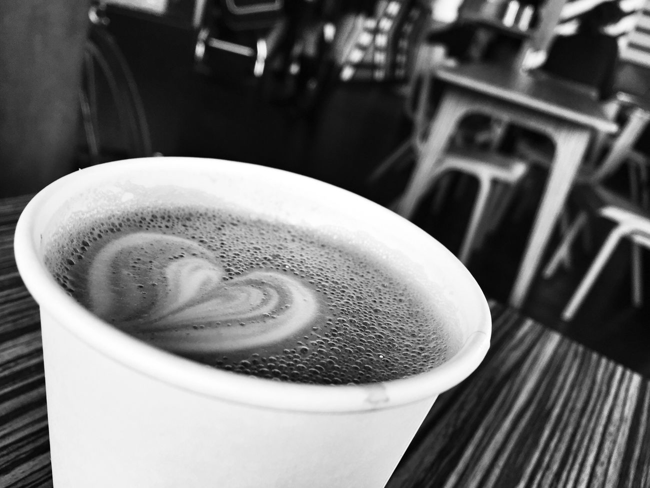 Time for a Coffee in Hipster Shoreditch - in Black & White