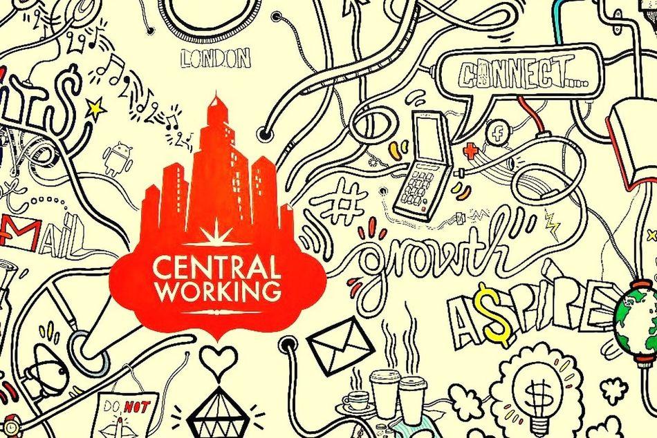 …digging this #WallMural at @CentralWorking! #IWE #London InternetWeek