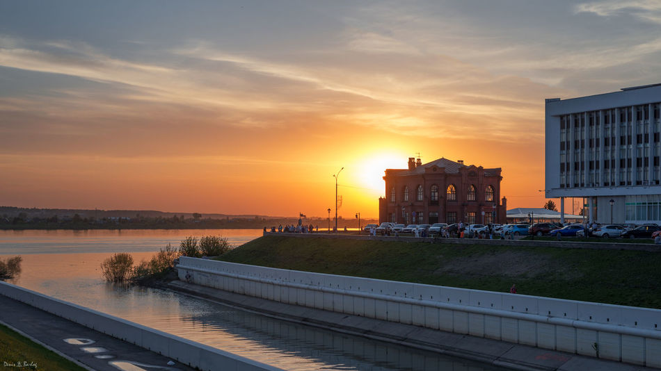 Architecture Building Exterior Built Structure City Nature No People Outdoors Sky Sunset Water