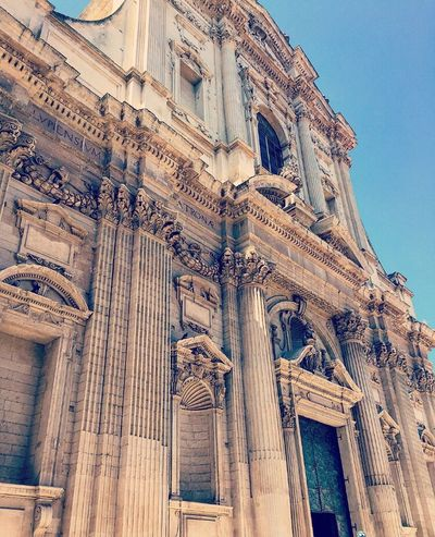 Lecce Puglia Pugliastyle Church EyeEm Best Shots Weekend StillLifePhotography Capture The Moment Love This Picture. Canon600D Photography Top Popular Photo City Urban Scene Inspired Traveling Monument Italy Urban Scenery
