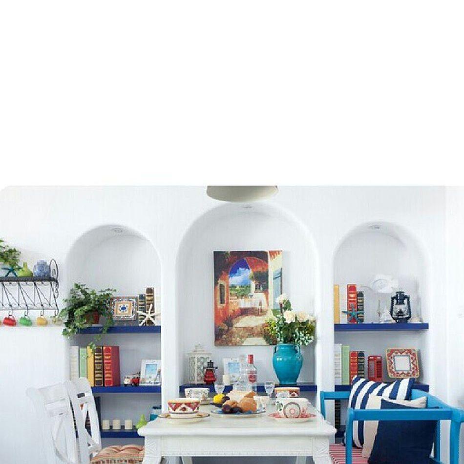 地中海 装修 的家一直是我的梦想 美 蓝白世界蓝白希腊